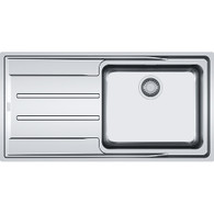 FRANKE ATON SINGLE BOWL STAINLESS STEEL FLUSHMOUNT SINK - ANX 211