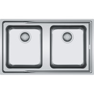 FRANKE ATON DOUBLE BOWL STAINLESS STEEL FLUSHMOUNT SINK - ANX 220