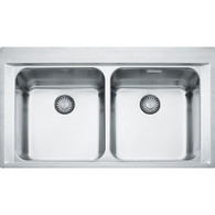 FRANKE EPOS DOUBLE BOWL STAINLESS STEEL FLUSHMOUNT SINK - EOX 220