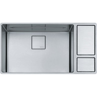 FRANKE CHEF CENTRE STAINLESS STEEL SINGLE BOWL UNDERMOUNT SINK - CUX 11024-W