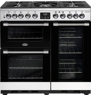 BELLING 90CM COOKCENTRE DELUXE DUAL FUEL COOKER - SPLIT OVENS - BCC900DF + Colour