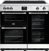 BELLING 90CM COOKCENTRE DELUXE INDUCTION COOKER - SPLIT OVENS - BCC900I + Colour
