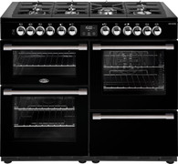 BELLING 110CM COOKCENTRE DELUXE DUAL FUEL COOKER - SPLIT OVENS - BCC1100DF + Colour