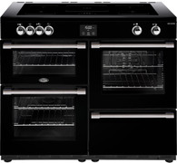 BELLING 110CM COOKCENTRE DELUXE INDUCTION COOKER - SPLIT OVENS - BCC1100I + Colour