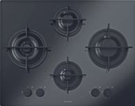 BARAZZA 65CM MOOD BLACK GAS ON GLASS COOKTOP - 1PMD64B