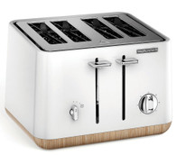 MORPHY RICHARDS SCANDI WHITE ASPECT 4 SLICE TOASTER - 240005