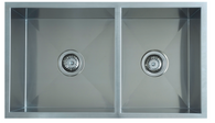 INTERCHANGE UPTOWN SQUARE DOUBLE BOWL SINK - 250mmD - UTS1.75/UTR1.75
