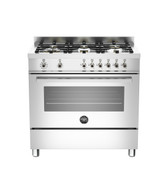 BERTAZZONI 90CM S/STEEL E SERIES DUAL FUEL FREESTANDING OVEN - PRO906MFESXE - EX-DISPLAY*