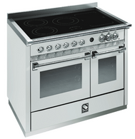 STEEL 100CM ASCOT FREESTANDING COMBI-STEAM OVEN  - 5 ZONE INDUCTION FLEXIZONE COOKTOP - A10SEF-5FI