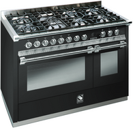 STEEL 120CM ASCOT FREESTANDING COMBI-STEAM OVEN  - 6 GAS BURNERS & 1 MEGA WOK - A12SEF-6M OT