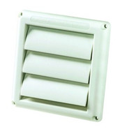 DEFLECTO PLASTIC WALL VENT - GRAVITY LOUVERED - 100mm - HS4W
