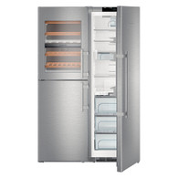 LIEBHERR 740L BLUPERFORMANCE SBS PAIR - FULL FRIDGE WITH BIOFRESH PLUS & HALF FREEZER/WINE CELLAR - SBSes 8486
