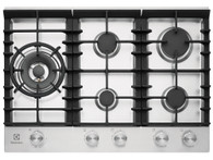 ELECTROLUX 75CM STAINLESS STEEL GAS COOKTOP - EHG755SD