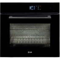 ILVE 76CM BLACK GLASS PYROLYTIC TOUCH CONTROL OVEN - 760SPYTCBV