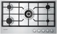 FISHER & PAYKEL 90CM STAINLESS STEEL GAS COOKTOP - CG905DX1