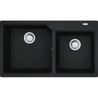 FRANKE URBAN DOUBLE BOWL FRAGRANITE SINK - UBG220-86 ONYX
