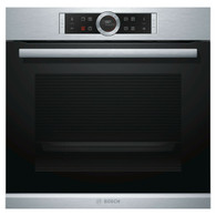 BOSCH 60CM BUILT-IN PYROLYTIC OVEN  WITH ADDED STEAM - SERIES 8 - HRG675BS1B