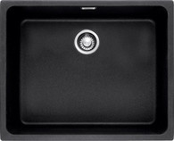 FRANKE KUBUS 500MM BLACK SINGLE BOWL FRAGRANITE SINK - KBG110-50-ONYX(INCL. ACCESSORIES)