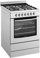 WESTINGHOUSE 60CM STAINLESS STEEL  ELECTRIC GAS HOB FREESTANDING OVEN - WFE616SA