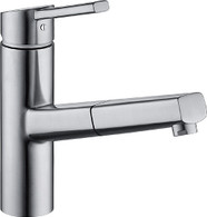 KWC LUNA-E STAINLESS STEEL PULL-OUT TAP - 10.441.113.700
