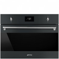 SMEG 60CM CLASSIC BLACK MATTE BUILT IN COMPACT SPEED OVEN - SFA4301MCN