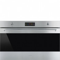 SMEG 90CM CLASSIC STAINLESS STEEL BUILT IN PYROLYTIC OVEN - SFPA9305SPX