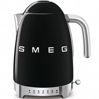 SMEG BLACK RETRO STYLE VARIABLE TEMPERATURE ELECTRIC KETTLE - KLF04BLAU