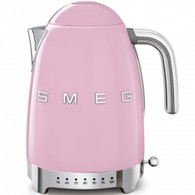 SMEG PASTEL PINK RETRO STYLE VARIABLE TEMPERATURE ELECTRIC KETTLE - KLF04PKAU
