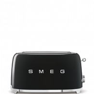 SMEG BLACK RETRO STYLE  4 SLICE TOASTER - TSF02BLAU