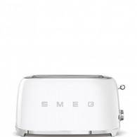 SMEG WHITE RETRO STYLE  4 SLICE TOASTER - TSF02WHAU