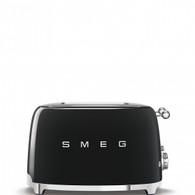 SMEG BLACK RETRO STYLE  4 SLICE EXTRA WIDE TOASTER - TSF03BLAU