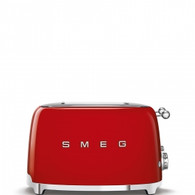 SMEG RED RETRO STYLE  4 SLICE EXTRA WIDE TOASTER - TSF03RDAU