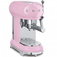 SMEG PASTEL PINK RETRO STYLE ESPRESSO COFFEE MACHINE - ECF01PKAU
