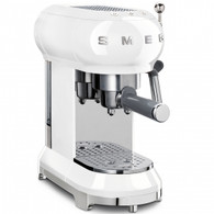 SMEG WHITE RETRO STYLE ESPRESSO COFFEE MACHINE - ECF01WHAU