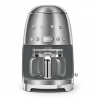 SMEG BRUSHED METAL RETRO STYLE DRIP COFFEE MACHINE - DCF02SSAU