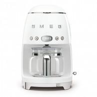 SMEG BRUSHED WHITE RETRO STYLE DRIP COFFEE MACHINE - DCF02WHAU