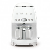 SMEG BRUSHED WHITE RETRO STYLE DRIP COFFEE MACHINE - DCF02WHAU