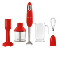 SMEG RED RETRO STYLE HAND BLENDER - HBF02RDAU