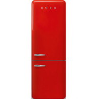 SMEG 510L RED RETRO STYLE BOTTOM MOUNT REFRIGERATOR & FREEZER - FAB38RRDAU