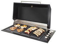 ARTUSI 102CM BLACK BUILT IN BBQ WITH HOOD - ABBQ1B + ABHOOD