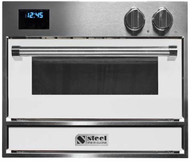 STEEL 60CM GENESI BUILT-IN PIZZA OVEN WITH INTEGRATED PIZZA STONE - GFE6-P
