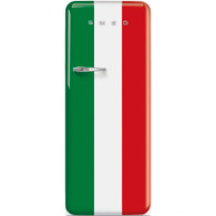 SMEG 270L ITALIAN FLAG RETRO STYLE SINGLE DOOR REFRIGERATOR FREEZER - FAB28RDIT3
