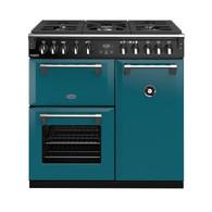 BELLING 90CM RICHMOND DELUXE DUAL FUEL COOKER - SPLIT OVENS - BRD900DF + Boutique Colour