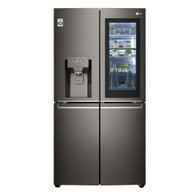 LG 706L BLACK STAINESS FRENCH DOOR FRIDGE/FREEZER - ICE MAKER & WATER - GF-V706BSL