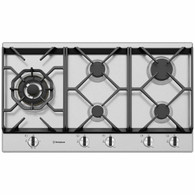 WESTINGHOUSE 90CM STAINLESS STEEL 5 BURNER GAS COOKTOP - WHG958SC