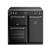BELLING 90CM RICHMOND DELUXE INDUCTION COOKER (BLACK) - SPLIT OVENS - BRD900IB - EX-DISPLAY*