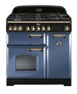 FALCON 90CM CLASSIC DELUXE FREESTANDING COOKER - STONE BLUE - CDL90DFSB/BR