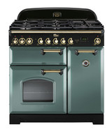 FALCON 90CM CLASSIC DELUXE FREESTANDING COOKER - MINERAL GREEN - CDL90DFMG/BR