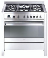 SMEG 90CM DUAL FUEL THERMOSEALED FREESTANDING OVEN - A11X-7
