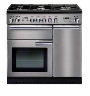 FALCON 90CM PROFESSIONAL DUAL FUEL FREESTANDING OVEN - SPLIT OVENS - PROP90DFF (Black or Stainless)